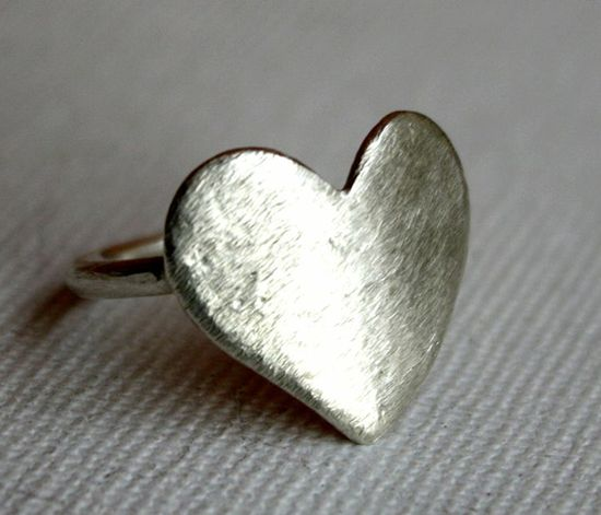 Silver Heart Ring. So simple, and so cute. It doesn't matter how big, small, expensive or cheap the gift is. All that matters, is who it's from, and the meaning behind it.