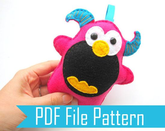 Monster Plush Pattern PDF Sewing pattern A334 on Etsy, $9.00