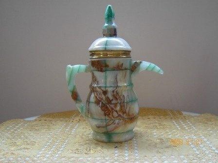 Handmade marble tea and coffee pot