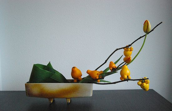 Ikebana 'Challenging gravity' by Otomodachi, via Flickr