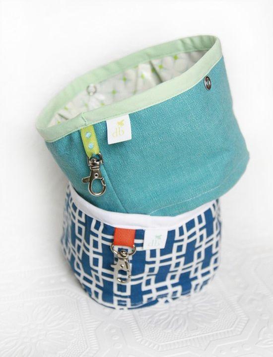 Squishy travel dog bowls!