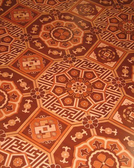 Tile inspired floor decoration