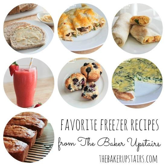 the baker upstairs: freezer recipe roundup!