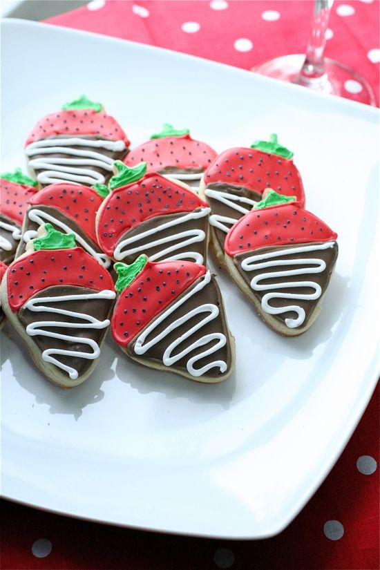 Chocolate Covered Strawberry Sugar Cookies