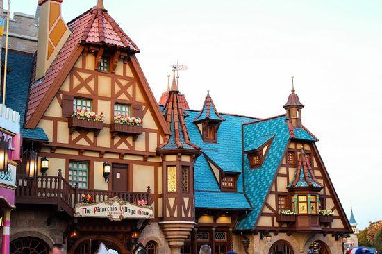 Storybook Rooftops in Fantasyland Disney's Magic Kingdom  Walt Disney World Florida