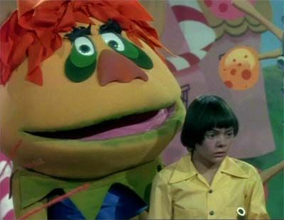 H.R. Pufnstuf,   Who's your friend when things get rough?   H.R. Pufnstuf   Can't do a little cause he can't do enough.