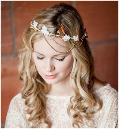 Frankie Bridal Halo As Seen In Lucky Magazine Wedding by LoBoheme, $145.00
