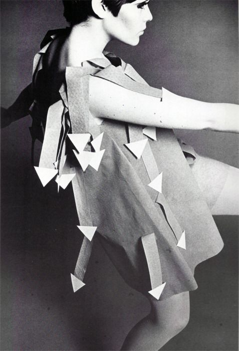 #dresscolorfully paper arrow dress