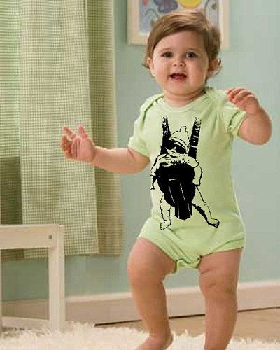 Funny BABY CARRIER 6m - 12m Movie creeper outfit Shirt gag gift tshirt boy girl green the Fan art one wolf man pack infant sling NEW on Etsy, $14.99