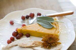 Savory butternut tart