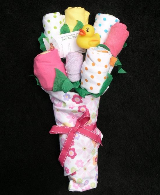 Baby Girl Gift Flower Onesie Bouquet.
