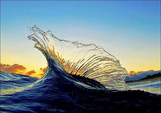 Ocean wave photography image