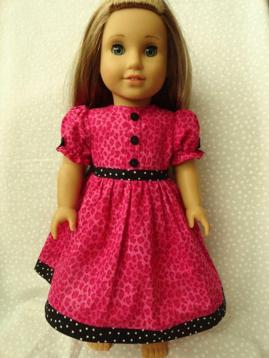 American Girl Dress Pink Cheetah