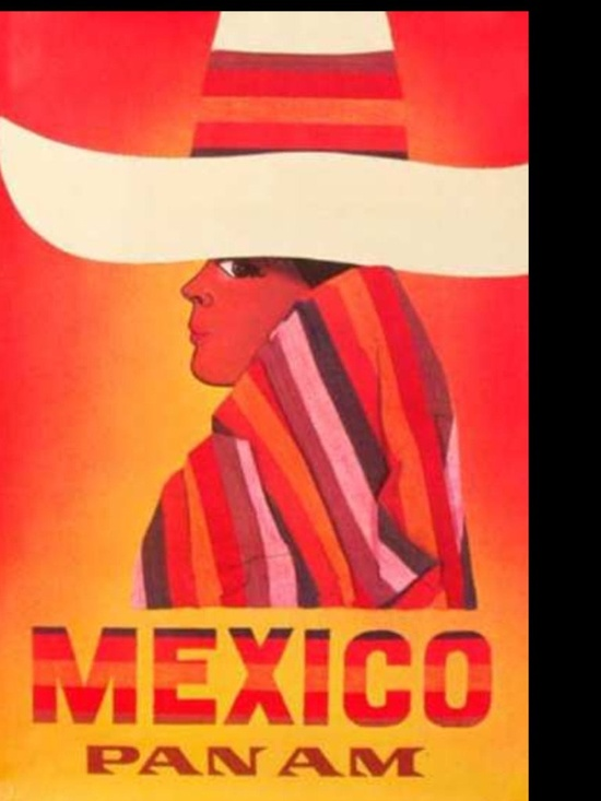 Pan Am vintage poster, Mexico #travel #posters