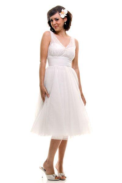 50's style wedding dress $118