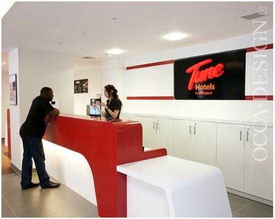 Tune Hotels, Hotel Interior Design, Hotel Reception