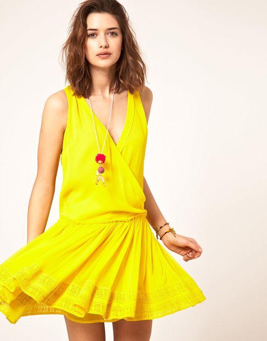 Dress with Dropped Waist