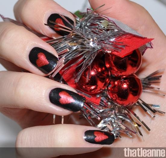 thatleanne HEART #nail #nails #nailart