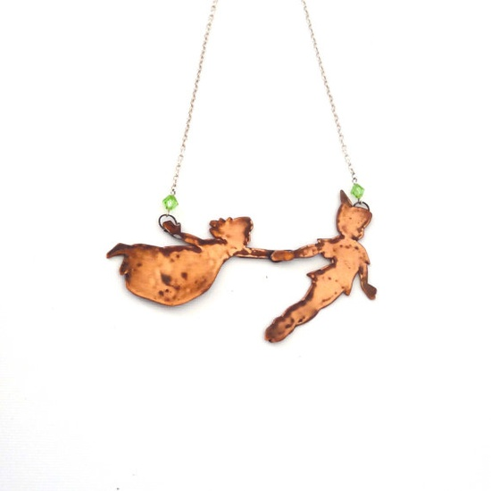 Peterpan and Wendy Necklace ON SALE by jewellerybyemily on Etsy, £38.00