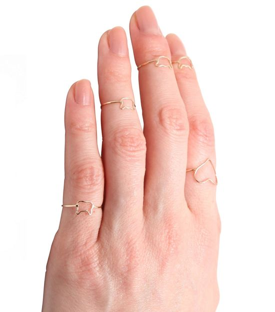 New at Catbird!Bittersweets NY Tiny Kitten First Knuckle Ring!