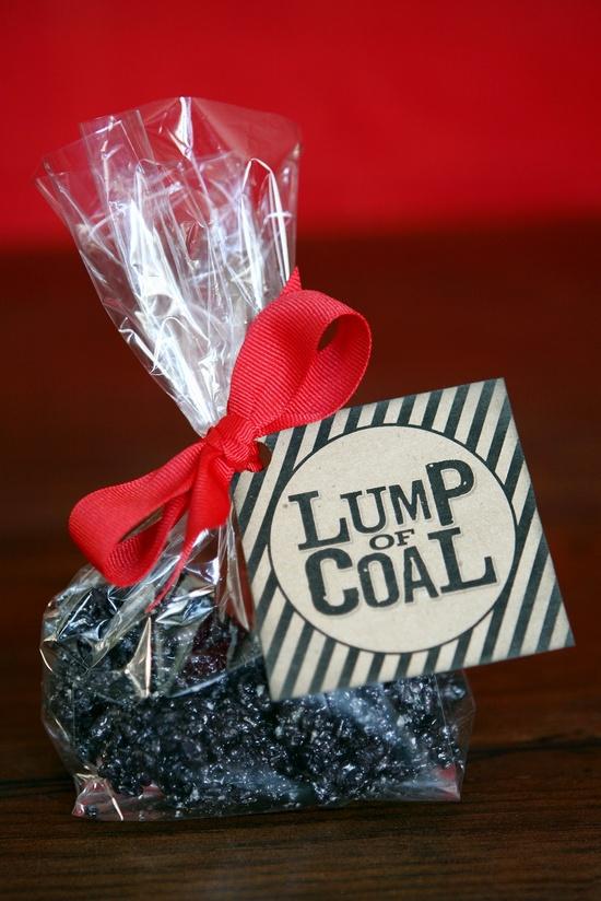 Lump of Coal - Fun {GIFT idea} w/ FREE printable! Designed by Eighteen 25 on iheartnaptime.net