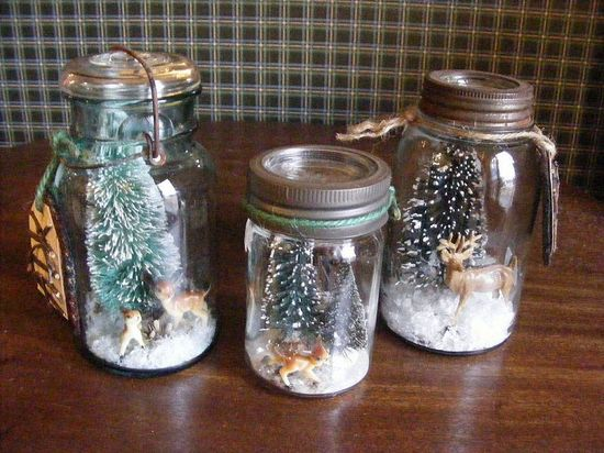 Mason jar snow globes - do it yourself!
