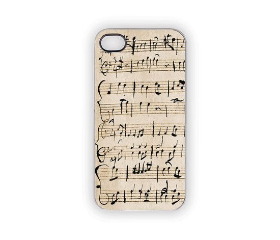 Music Note Mozart iPhone Case Apple iPhone Cover 5 by Inspireuart, #music #iPhone #iPhonecase #Mozart #classic #ivory #black #notes #eclectic #gifts #accessories