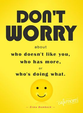 Don't worry ... #motherhood