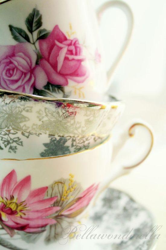 Rosy teacups