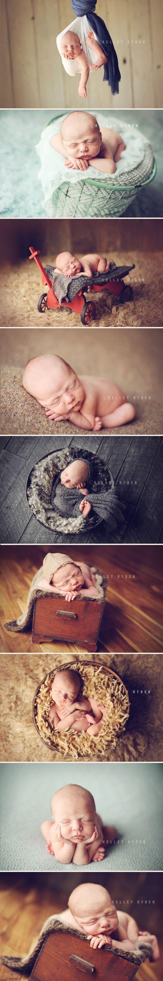 newborn boy posing and styling