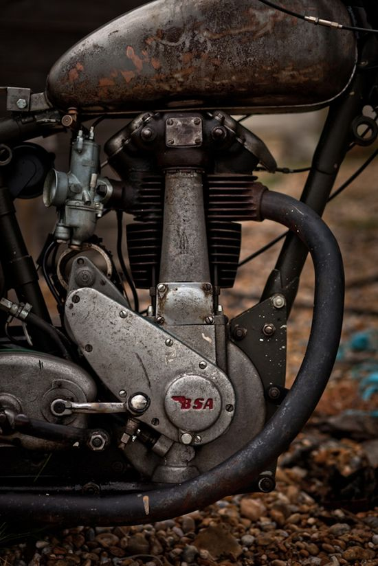 Old BSA Motorcycle = NOSTALGIA