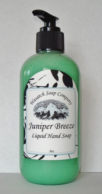 Juniper Breeze Handmade Liquid Soap  All Natural by WasatchSoapCo,