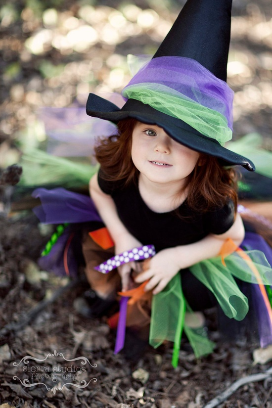 Fancy Witch Tutu, Sparkling Satin Witch Hat...2T-5T...Black, Orange, Lime, Purple Tulle & Ribbon