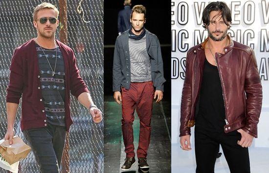 Burgundy men's fashion 2013
