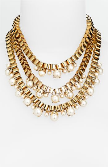 kate spade new york faux pearl collar necklace