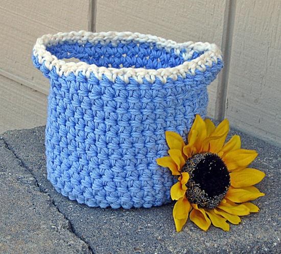 Basket  Handmade Basket Crochet Basket Bowl by HandmadeByAnnabelle, $15.00