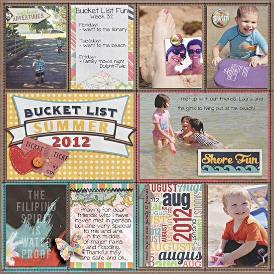 Project Life - Week 32 - Left - Scrapbook.com