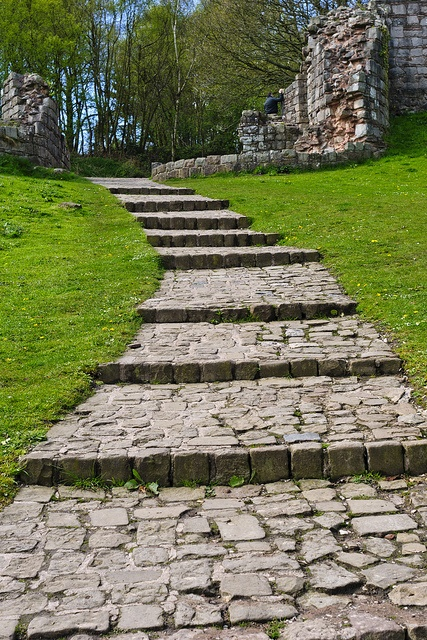 Steps, Beeston Castle, England