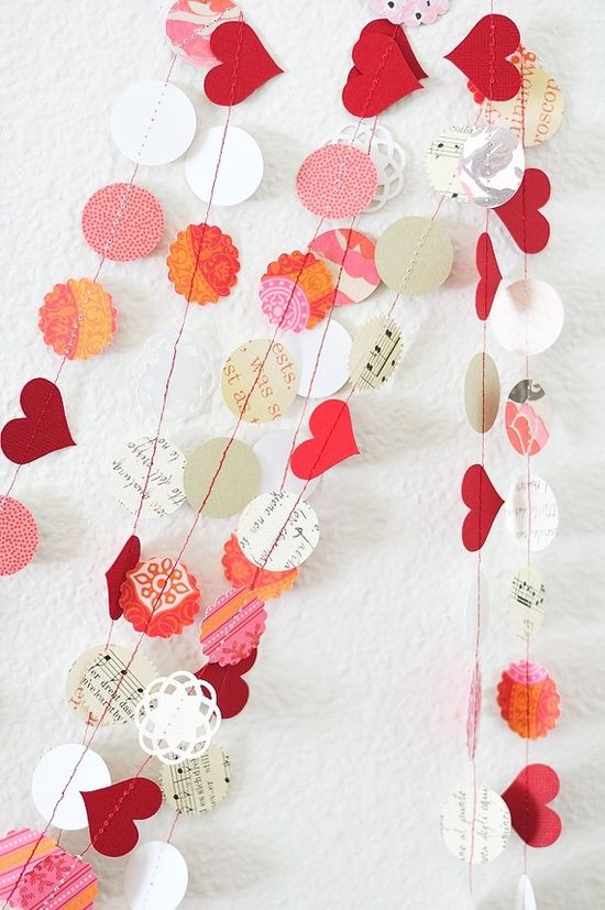 heart garland valentine's day