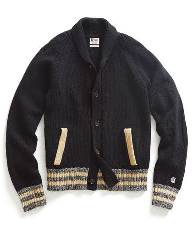Black Baseball Jacket Sweater