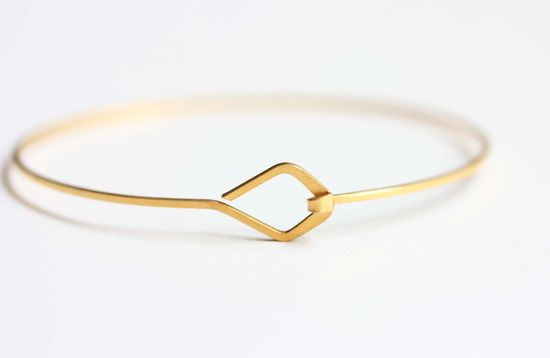 Diamond Hook Bracelet. $16.00, via Etsy.
