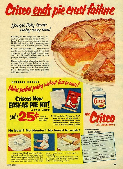 Crisco ends pie crust failure.