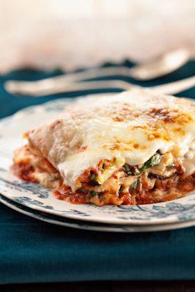 Five-Veggie, Four-Cheese Lasagna