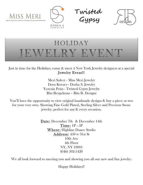 Jewelry Holiday Event