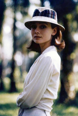 Audrey Hepburn on location for The Nun's Story (1958).