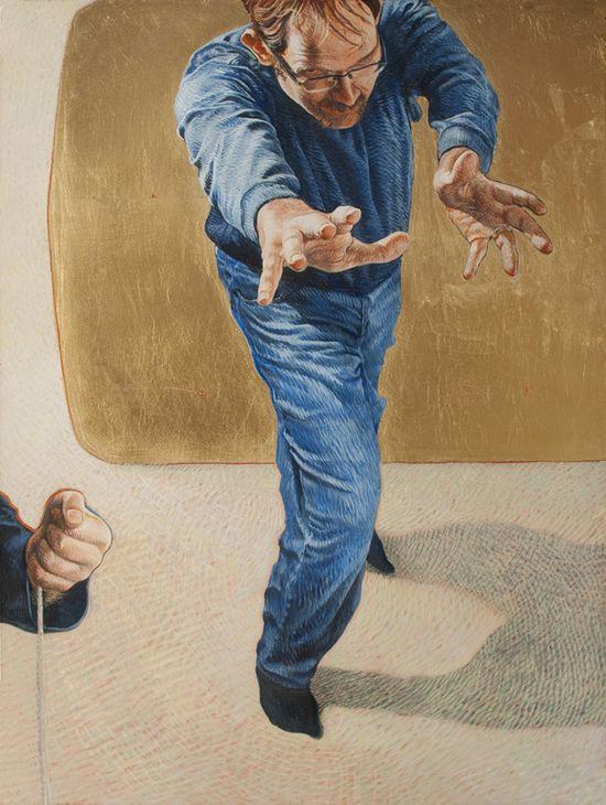 """Saatchi Online Artist: Mat Greiner; Tempera, 2011, Painting """". . . precious ally."""""""