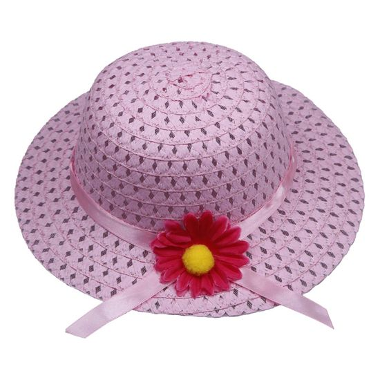 $1.97 Pink Lovely Kids Girls Children Straw Sun Hat Cap And Cute Straw Handbag Set