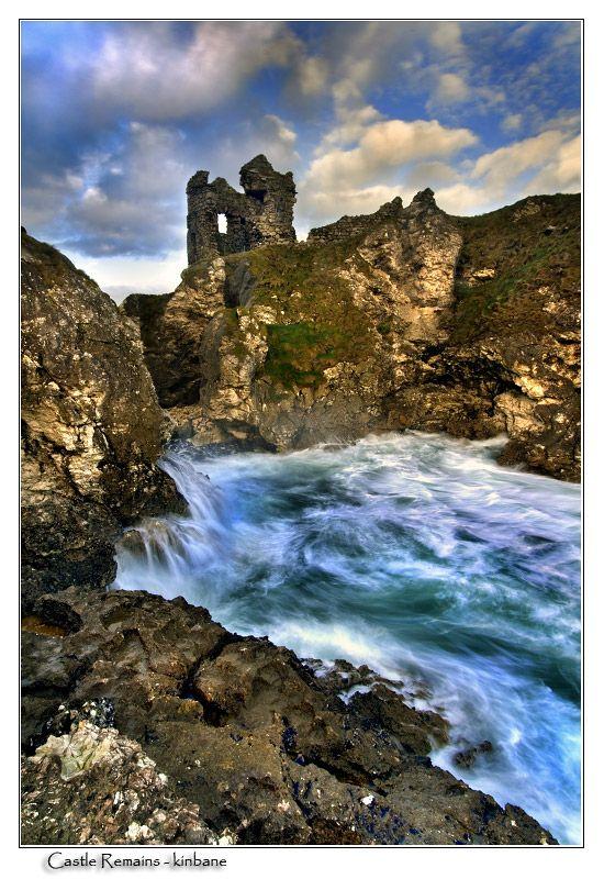 Castle Remains - Kinbane - , Antrim, Northern Ireland
