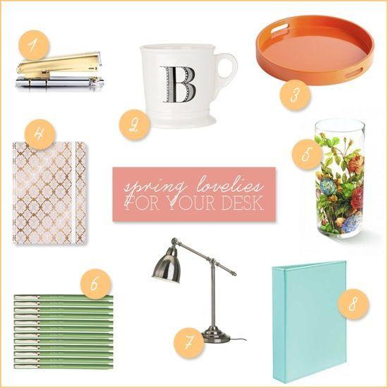 Spring Lovelies (For Your Desk) #Desk Layout