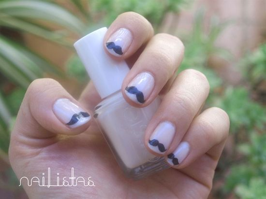Moustache nails - Nail Art Gallery by NAILS Magazine